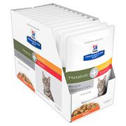 Hills Diet Metabolic + Urinary Stress Chicken Cat Food Pouch
